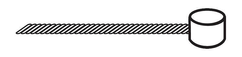 Bremsinnenzug Trommelnippel Tandem - Bremsinnenzug Trommelnippel Tandem