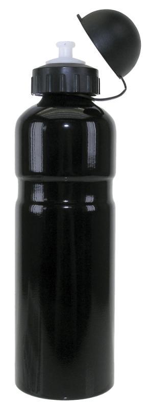 Trinkflasche Alu 0,75ltr schwarz - Trinkflasche Alu 0,75ltr schwarz
