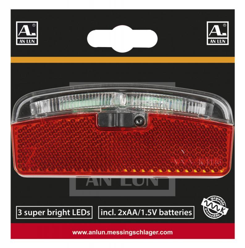 Batterie-Gepäckträgerrücklicht `Anlun` - Batterie-Gepäckträgerrücklicht `Anlun`