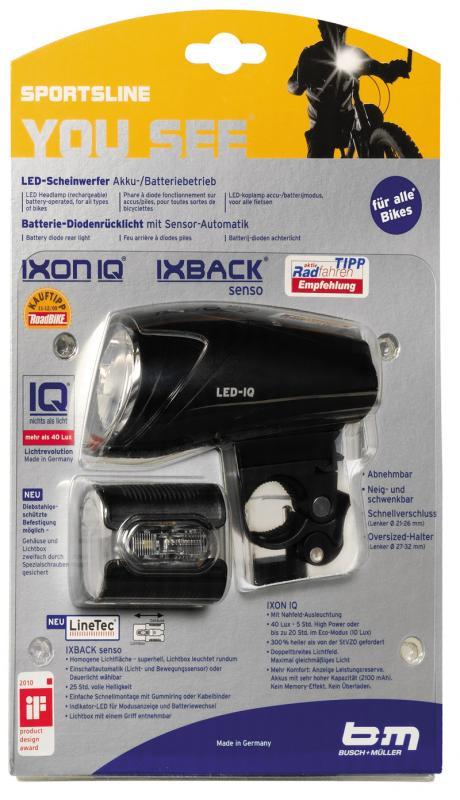 Busch + Müller Beleuchtungsset Ixon IQ/Ix Back senso - Busch + Müller Beleuchtungsset Ixon IQ/Ix Back senso