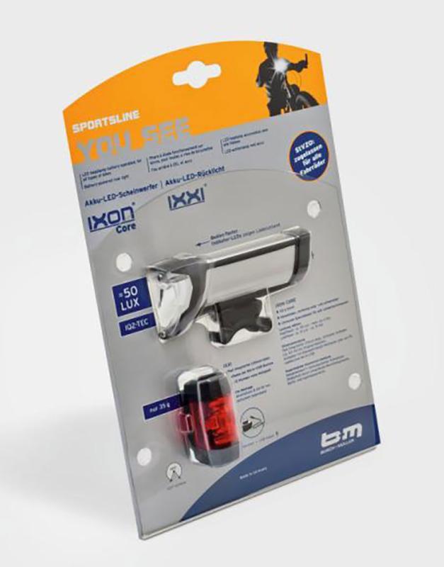 Batteriebeleuchtungsset Ixon Core/Ixxi - Batteriebeleuchtungsset Ixon Core/Ixxi bei Fahrrad-Krau