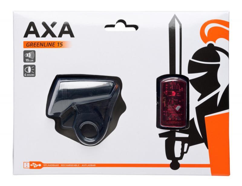 Batteriebeleuchtungsset 'Axa Green Line' 15Lux/ 1 LED - Batteriebeleuchtungsset 'Axa Green Line' 15Lux/ 1 LED
