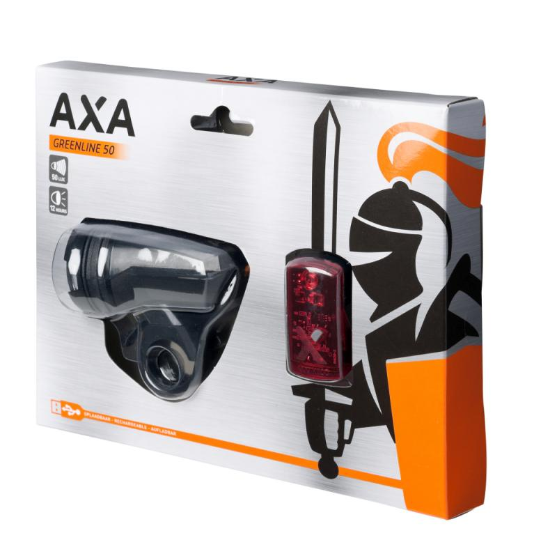 Batteriebeleuchtungsset `Axa Green Line` 50Lux/2LED - Batteriebeleuchtungsset `Axa Green Line` 50Lux/2LED
