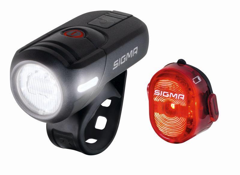 Sigma Sport Beleuchtungsset Aura 45 USB/Nugget 2 - Sigma Sport Beleuchtungsset Aura 45 USB/Nugget 2