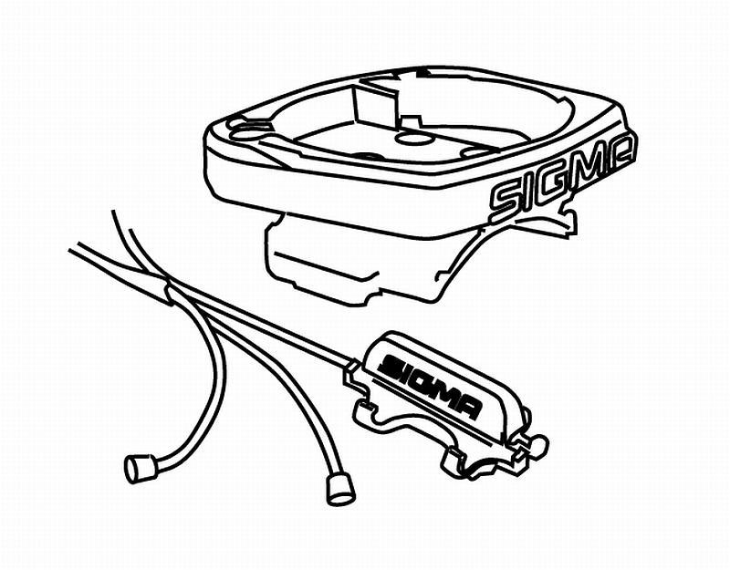 Universalhalter Sigma mit Kabel - Universalhalter Sigma mit Kabel