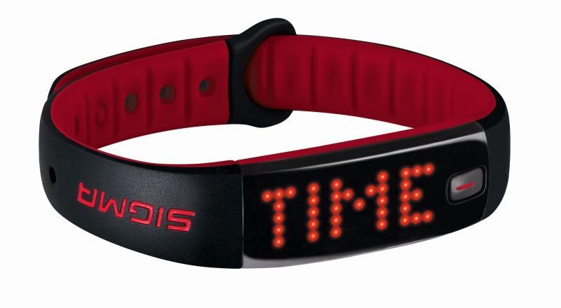 Sportarmband `Sigma Sport Activo` schwarz-rot - Sportarmband `Sigma Sport Activo` schwarz-rot