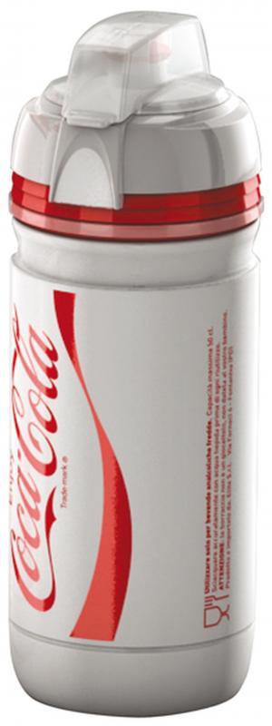 Trinkflasche `Elite Corsa Coca Cola` weiß - Trinkflasche `Elite Corsa Coca Cola` weiß