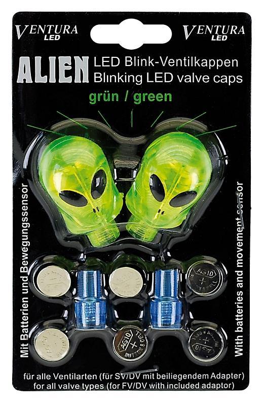 LED Staubkappen 'Modell Alien grün' - LED Staubkappen 'Modell Alien grün'
