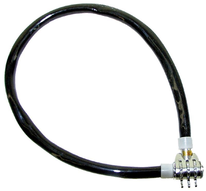 Kabelzahlenschloß 60cm, schwarz - Kabelzahlenschloß 60cm, schwarz