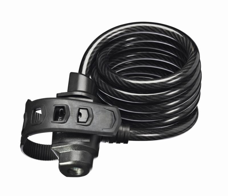 Spiralkabelschloß `Trelock SK 222/180` FIXXGO - Spiralkabelschloß `Trelock SK 222/180` FIXXGO