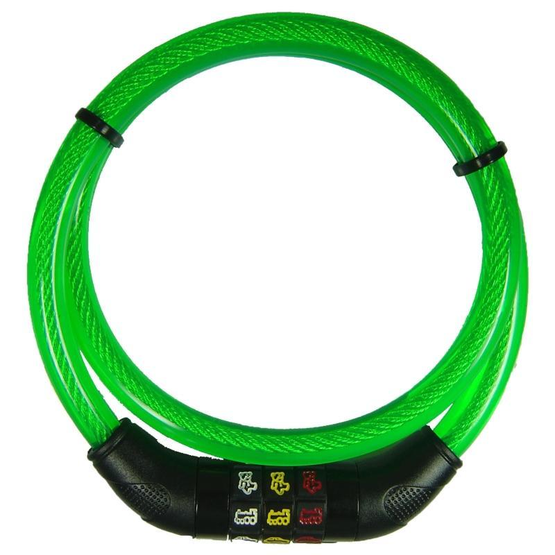Kinder-Kabelschloß `Point` grün - Kinder-Kabelschloß `Point` grün