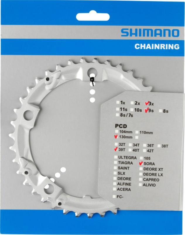 Kettenblatt 'Shimano' 39 Zähne - Kettenblatt 'Shimano' 39 Zähne