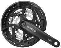 Kurbelgarnitur 'Shimano FCM 521' schwarz - Pro-Cycling-Golla