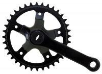 Kurbel rechts 40 Zähne Stahl - Pro-Cycling-Golla